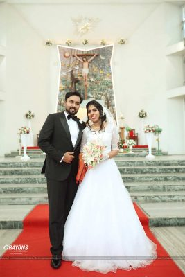 Crayons creations christian wedding post marriage church photography company Kochi Kannur Kerala