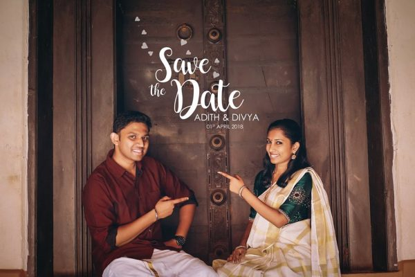adith divya crayons creations wedding photography kerala save the date