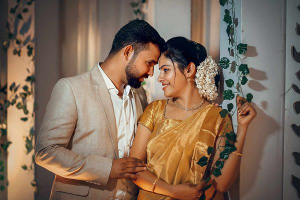 Crayons creations christian wedding groom and bride eyes met photography company Kochi Kannur Kerala
